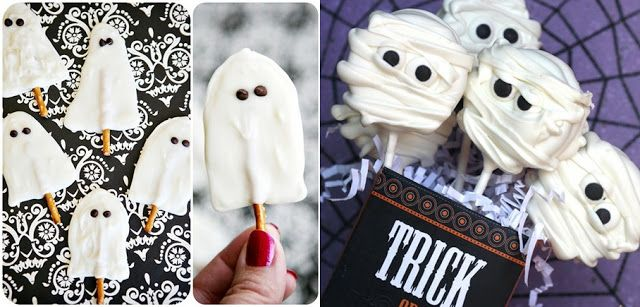 Pop Culture And Fashion Magic: Easy Halloween food ideas - dessertsDesserts Halloween, Halloween Parties, Pop Culture, Food Ideas, White Chocolate, Fashion Magic, Parties Ideas, Halloween Foods, Easy Halloween Food
