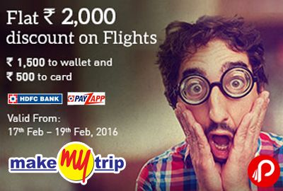 Makemytrip coupons hdfc card