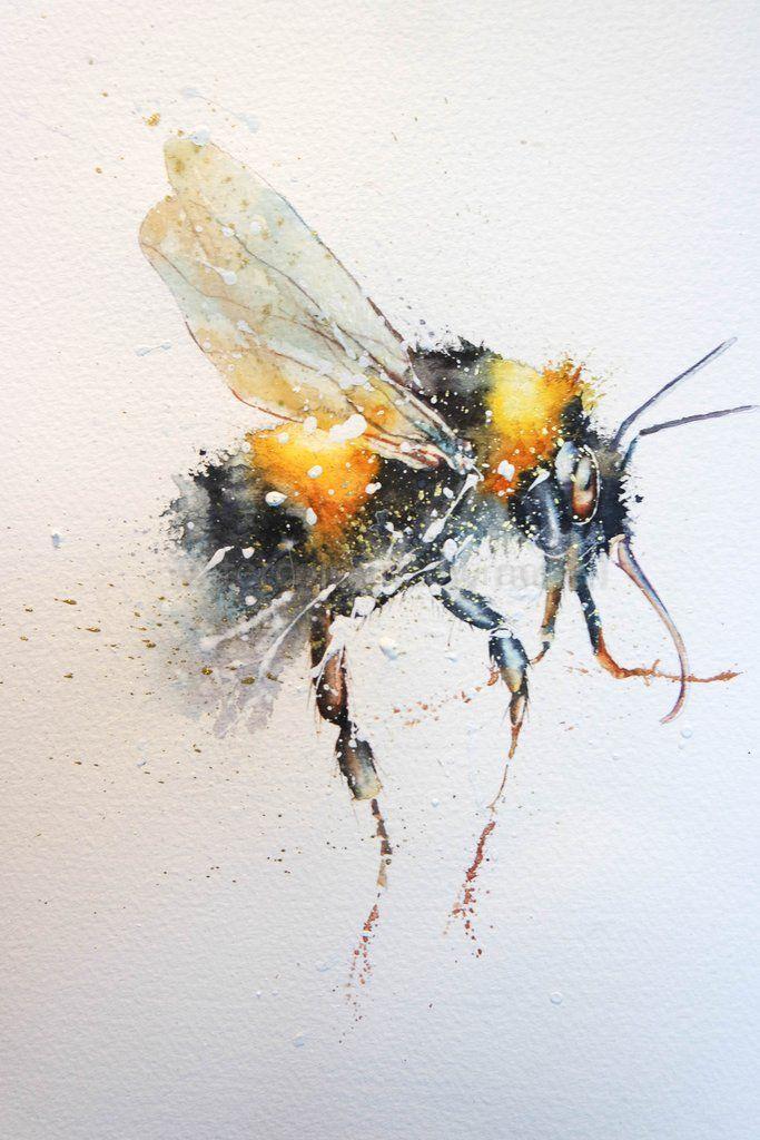 Bee Happy In 2020 Bee Art Bee Painting Bee Drawing