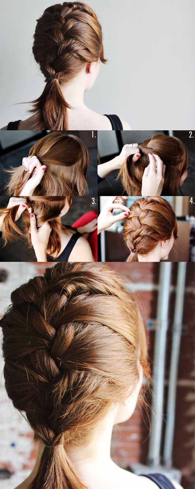 Super Sexy Hairstyles- Fun French Braid For Medium Length Hair - Easy Hair Styles For Long Hair, Medium Hair, And For Going Out. If You Have Short Hair, Try These Sexy Hairstyles With Extensions, Or Try A Hair style With Bangs. Try A Sexy Updo Or A Curly Look That Is Shoulder Length. These Tutorials For Sexy Hairstyles And Hairdo's Are Super Simple And Step By Step. Super-Sexy Hairstyles That Are Actually Easy To Do And Will Make You Look Hot. https://thegoddess.com/super-sexy-hairstyles