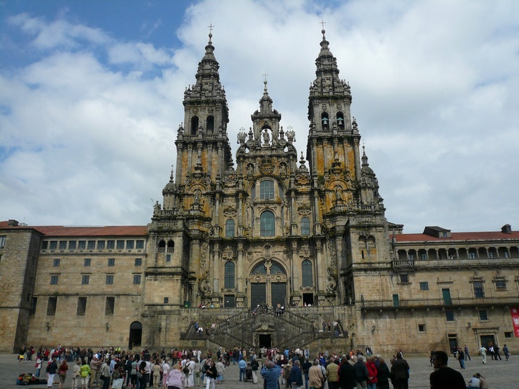 The cathedral in Santiago de Compostela. The camino de santiago. A 2 month pilgrimage throughout europe. Amazing.