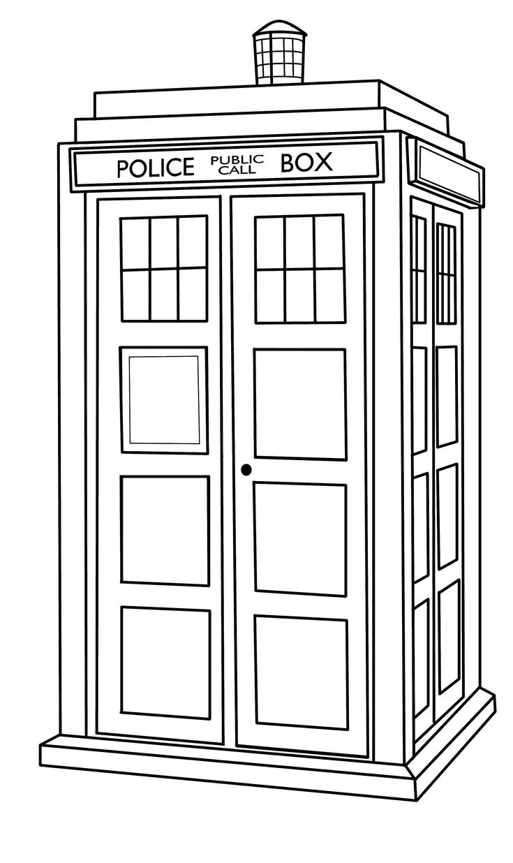 Line Art Box Designs : Black and white tardis tattoos google search i need a