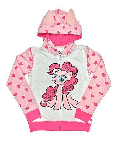 Another great find on #zulily! Pink Polka Dot My Little Pony Zip-Up Hoodie - Girls #zulilyfinds