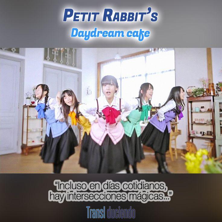 Canción traducida: #PetitRabbits - #DaydreamCafe | #JPop #JMusic #OST #GochuumonWaUsagiDesuKa Encuéntrala completa en http://transl-duciendo.blogspot.com.au/2015/09/petit-rabbit-daydream-cafe-cafe-sonado.html
