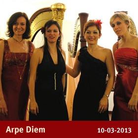 Arpe Diem  Concerto della stagione da camera 2013  Ottava Nota - Auditorium  via Marco Bruto 24  0289658114 3388576271  info@ottavanota.org  www.ottavanota.org