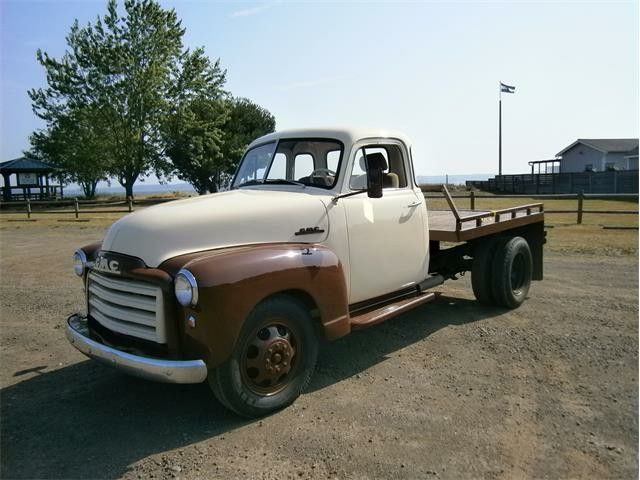 1951 Gmc 1 Ton Flatbed W 228ci Straight 6 Car Auctions Gmc Step Van