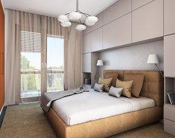 Łóżko we wnęce z zabudową meblową - zdjęcie od Izabela Widomska Wnętrza