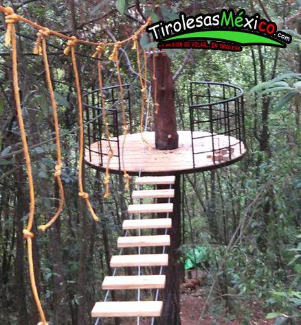 canopy y diseño y puente colgante tarzan