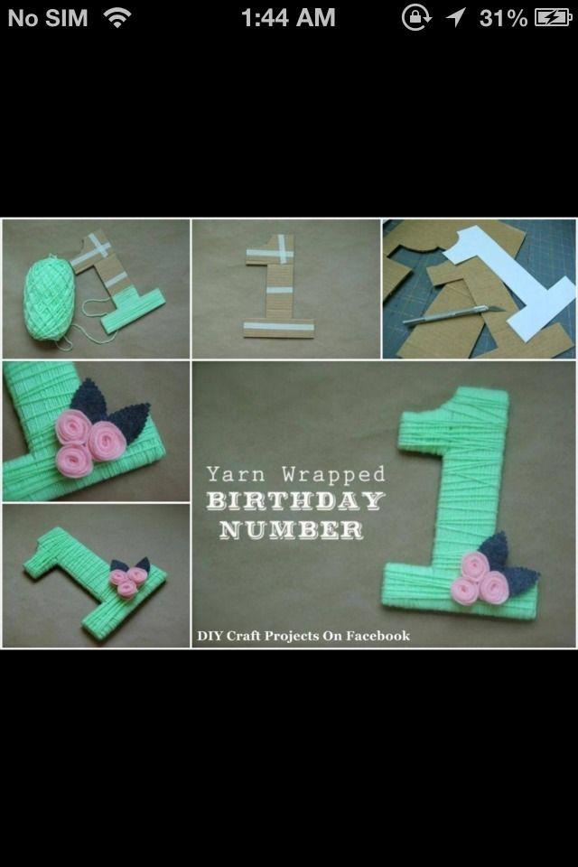 First Birthday Idea.