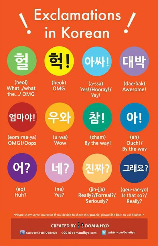 Exclamations on Korean                                                                                                                                                      More