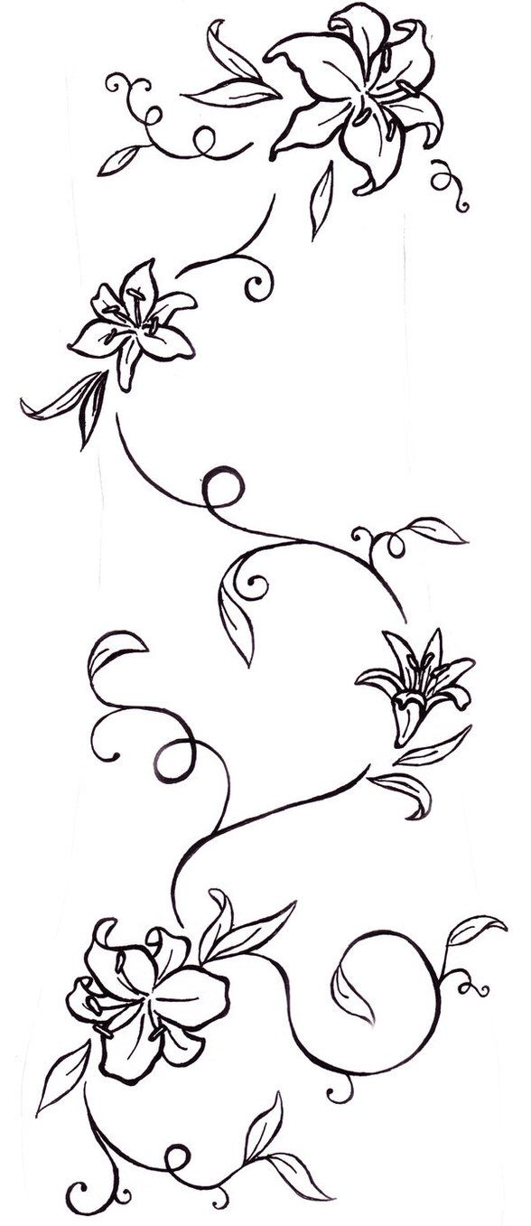 Image from http://tattoodrawingpics.com/images/48487-rose-vine-tattoo-designs-flower-tattoos-lily-and-vine-tatt-tattoo-free.jpg.