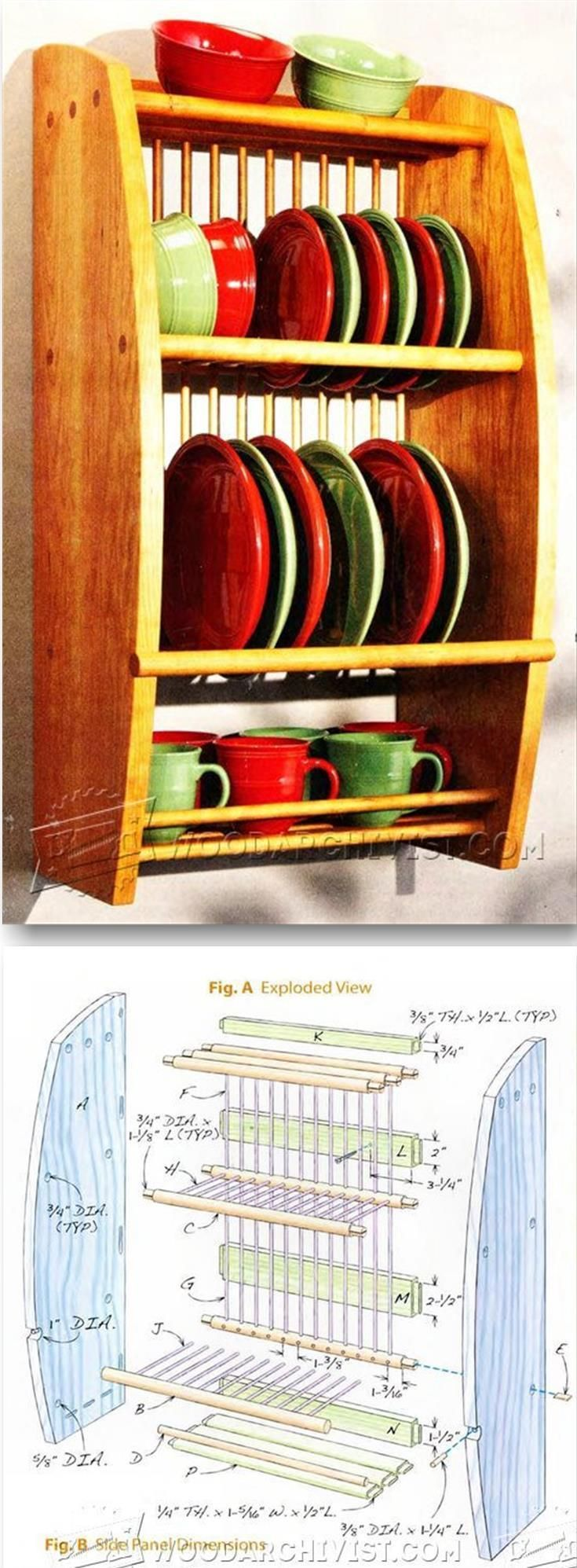 Under cabinet plate rack plans free - Plate Rack Plans Furniture Plans And Projects Woodarchivist Com