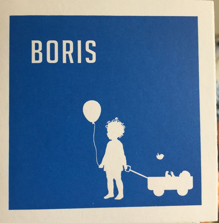 Letterpress # geboortekaartje # Jongetje # bolderwagen # blauw