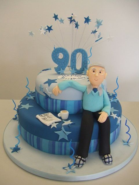 Image result for 90th birthday cake for men