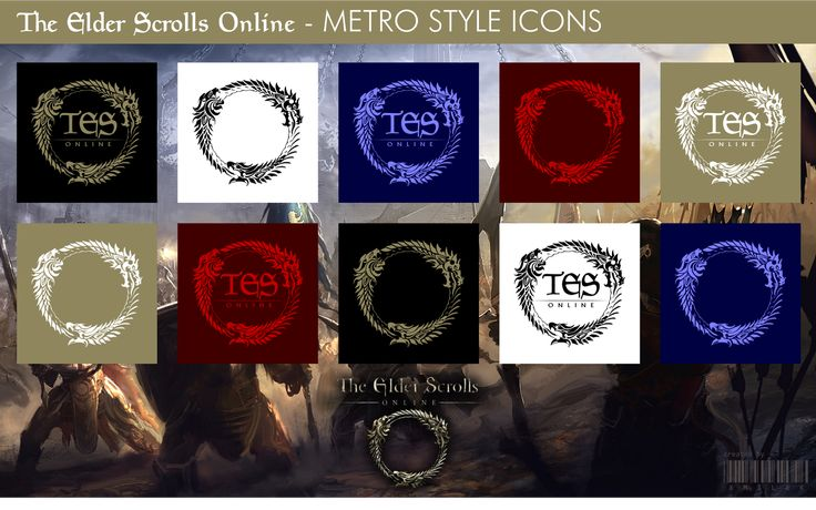 The Elder Scrolls Online - Metro Style Icons by xmilek.deviantart.com on @deviantART