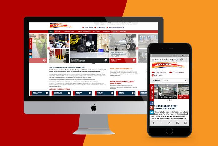 Responsive Web Design and ongoing Search Engine Optimisation for Zircon Flooring