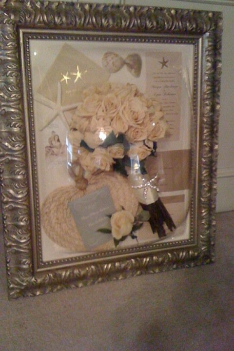 Wedding Memorabilia Shadow Box   Beach Wedding Destin, Florida Beach Wedding Santa Rosa, Florida Beach Wedding