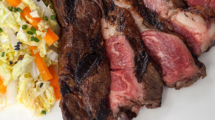 Grilled Wagyu with Ponzu and Asian Cabbage Salad