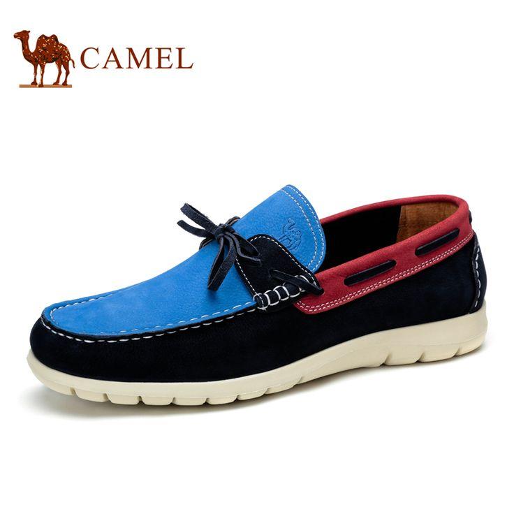2015 НОВОЕ ПРИБЫТИЕ Camel мужская молодежная тенденция кожаные ботинки кожи головы Корейский стиль новая коллекция весна 2015 мужская одежда обувь