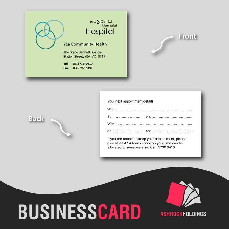 Hospital Business Card | #businesscard #health #hospital #printing #card #business #ydmh #communityhealth