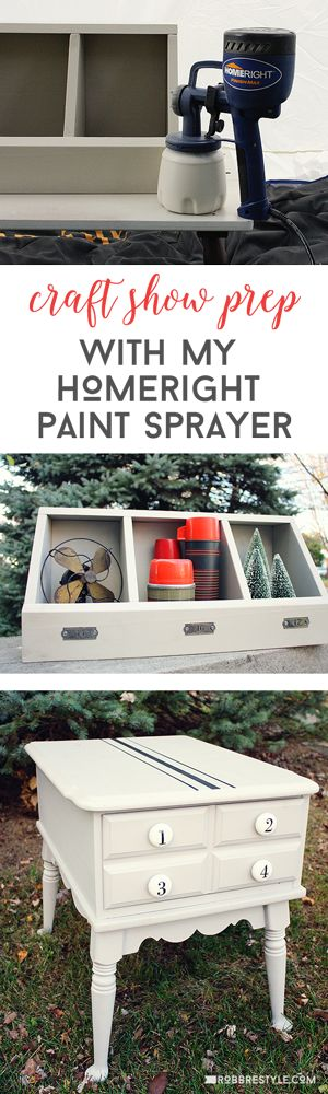 Craft Show Prep With My HomeRight Paint Sprayer