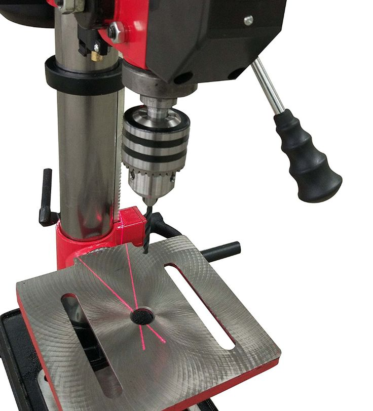Powersmart Ps310 12 Speed Drill Press With Laser Guide 10 Red Black Drill Press Speed Drills Drill