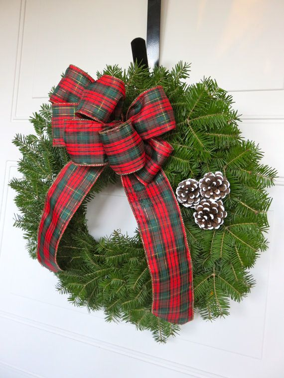 Fresh Christmas Wreath Wreath Traditional by MaineMadeWreaths