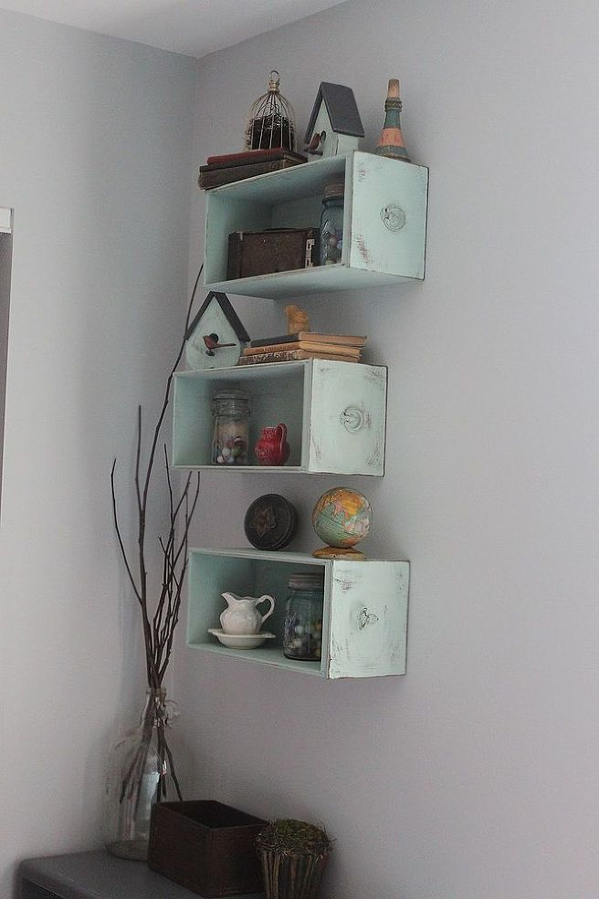 Drawers Turned Shelves