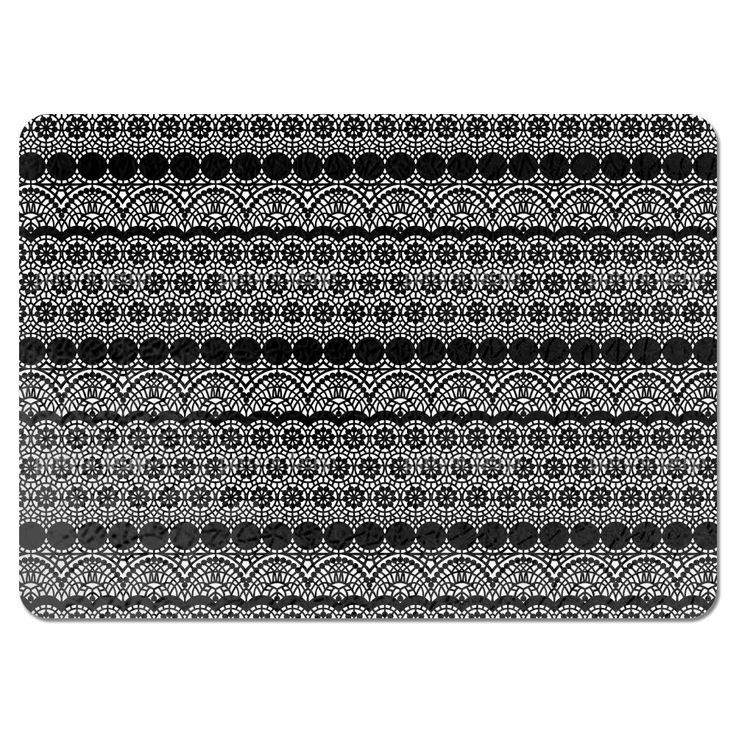 Uneekee Alhambra Black Placemats (Set of 4) (Alhambra Black Placemat) (Polyester)