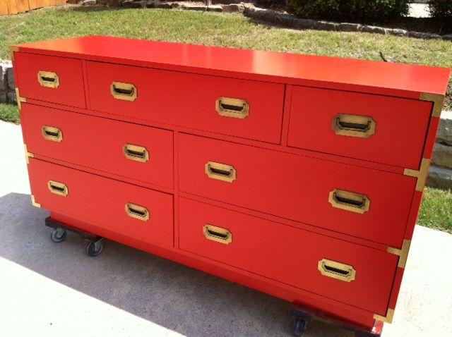 Orangey-Red Campaign Dresser
