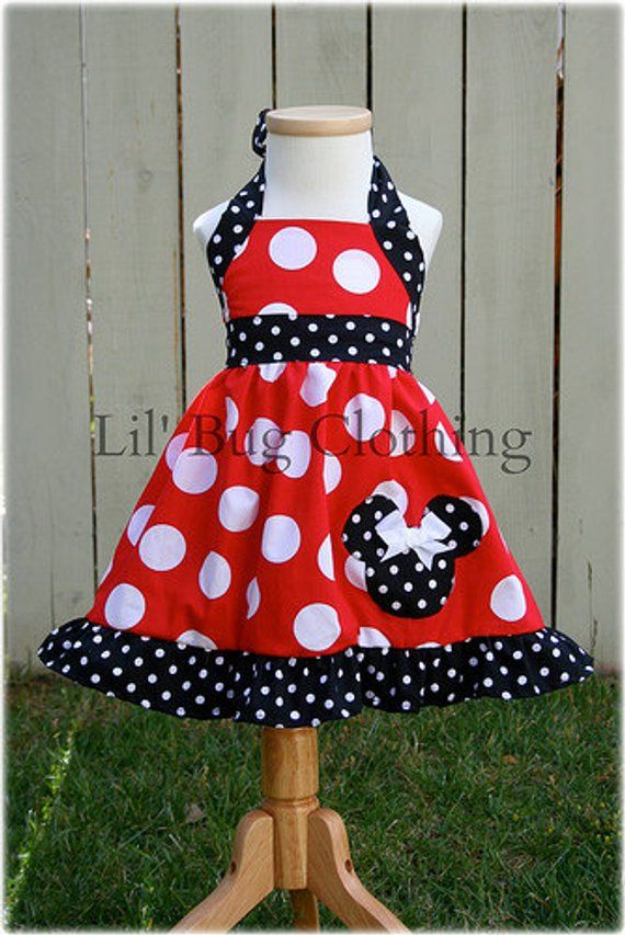 d09322823 Minnie Mouse Girls Dress, Minnie Mouse Red White Polka Dot Dress, Minnie  Mouse Birthday Party Dress, Minnie Mouse Summer Dress,
