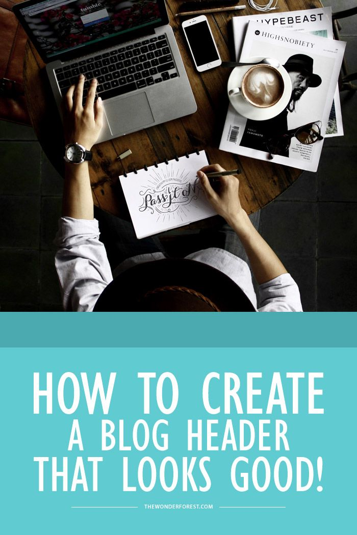 How to create a blog header (that looks good!)
