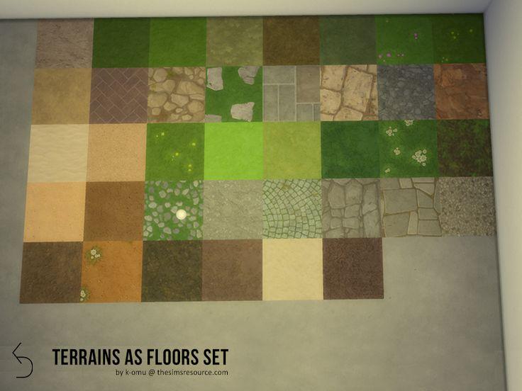 k-omu's Terrain as flooring set