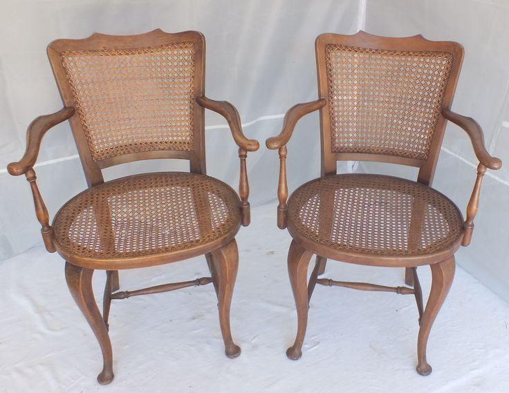paire fauteuils cannées style Chippendale armchair | Art, antiquités, Meubles, décoration, XIXème, Chaises, fauteuils | eBay!