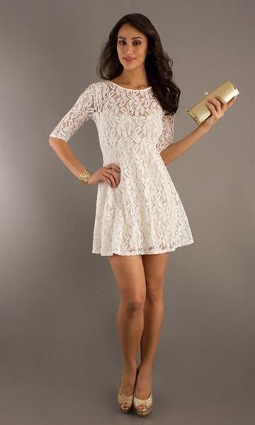 Кружевное мини платье купить