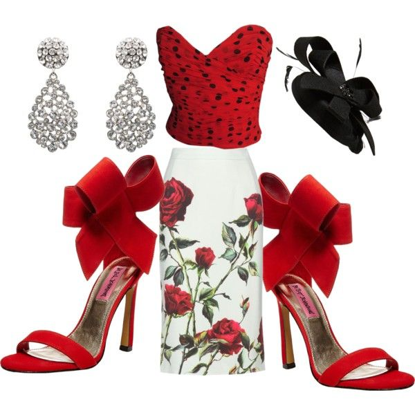 Races by gonnadressyouup on Polyvore featuring polyvore, fashion, style, Moschino, Dolce&Gabbana, Betsey Johnson, Oscar de la Renta and Cara