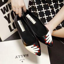 Gran tamaño mujeres pisos a estrenar del cuero genuino del Ballet de la Mujer pajarita diseñador pisos Ladies Zapatos de Mujer Sapato Feminino(China (Mainland))