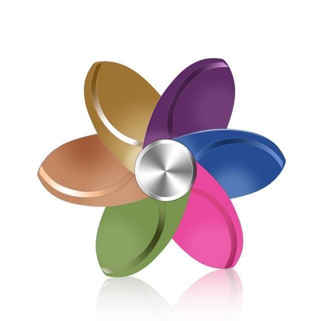 27 Style Rainbow Metal Flower Fid Spinner Colorful Hand Spinner