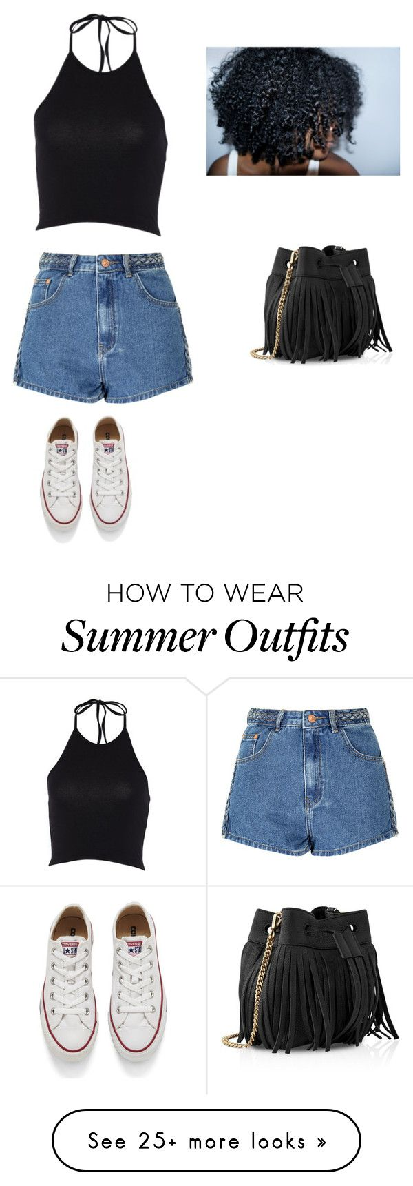 """""""I'm back with a summer outfit !!!"""" by liyahh000 on Polyvore featuring Glamorous, Whistles and Converse"""