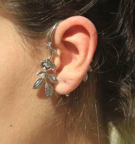 Ear Cuff Folhas e Flores