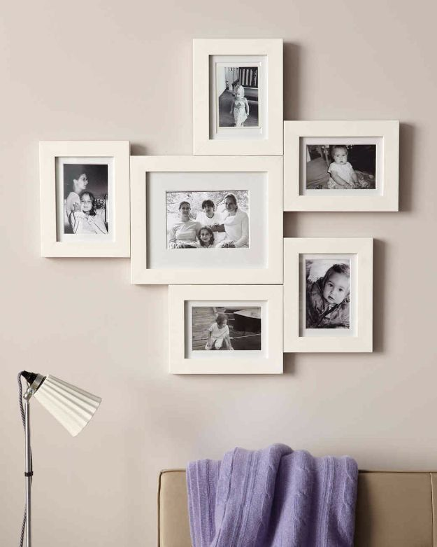 Tips and Tricks for Hanging Photos and Frames - Connected Photo Frame Display - Step By Step Tutorials and Easy DIY Home Decor Projects for Decorating Walls - Cool Wall Art Ideas for Bedroom, Living Room, Gallery Walls - Creative and Cheap Ideas for Displaying Photos and Prints - DIY Projects and Crafts by DIY JOY http://diyjoy.com/tips-hanging-photos-frames