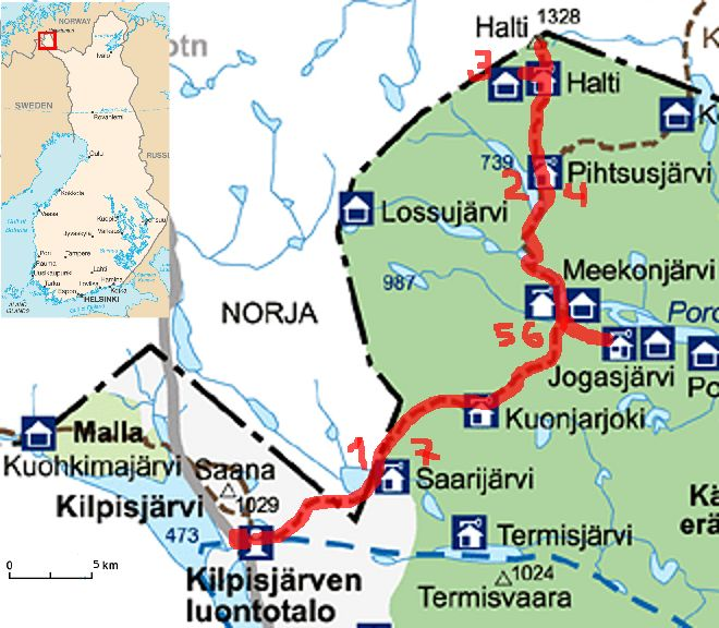 Speeding to Halti -mountain and plodding back. Finland