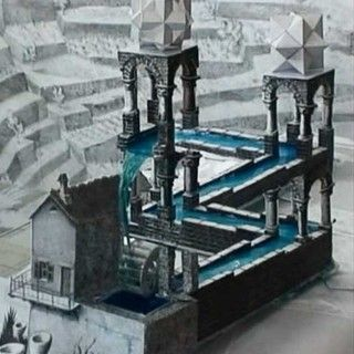 Found on instructables.com how to build a real-life version of M.C.Escher's Waterfall