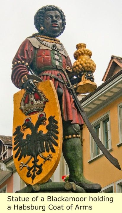 Hapsberg Coat of Arms...moors in Germany trianglebelowcanalstreet. com