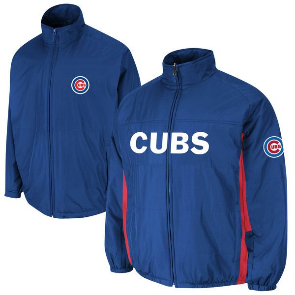 Chicago Cubs Majestic Triple Climate 3-In-1 On-Field Jacket - Royal - $224.99