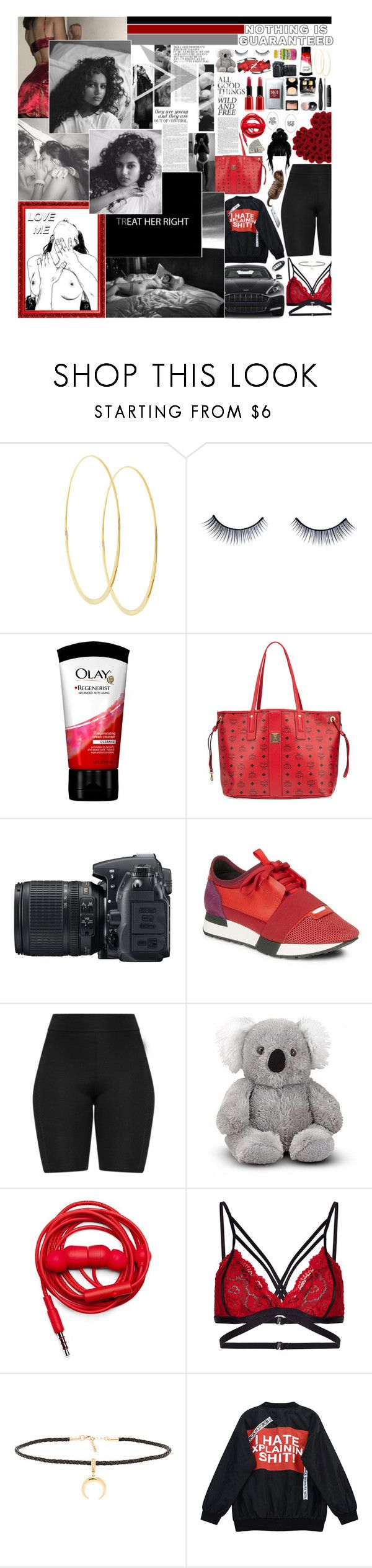 """➝ I'm a one night stand, cuffing wasn't in the plan until you came through, you were stunting with your crew."" by etherealspiri-t ❤ liked on Polyvore featuring Lana, Napoleon Perdis, Olay, MCM, Nikon, Balenciaga, Urbanears, Joolz by Martha Calvo and Chicnova Fashion"