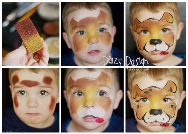 Step By Step Puppy Face Painting - Daizy