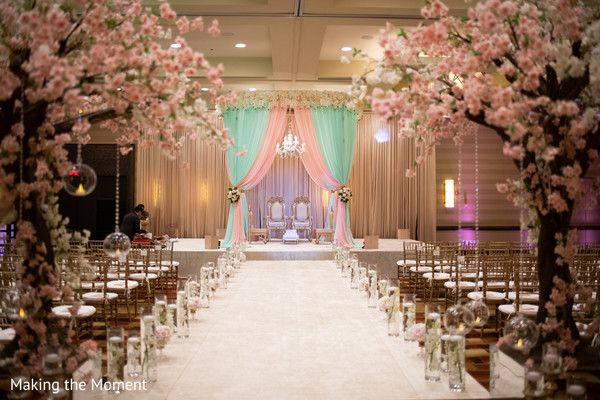 Magnificent Indian Wedding Ceremony Aisle And Mandap Decoration