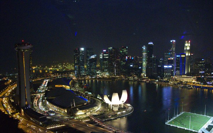 View from Singapore Flyer, 2012