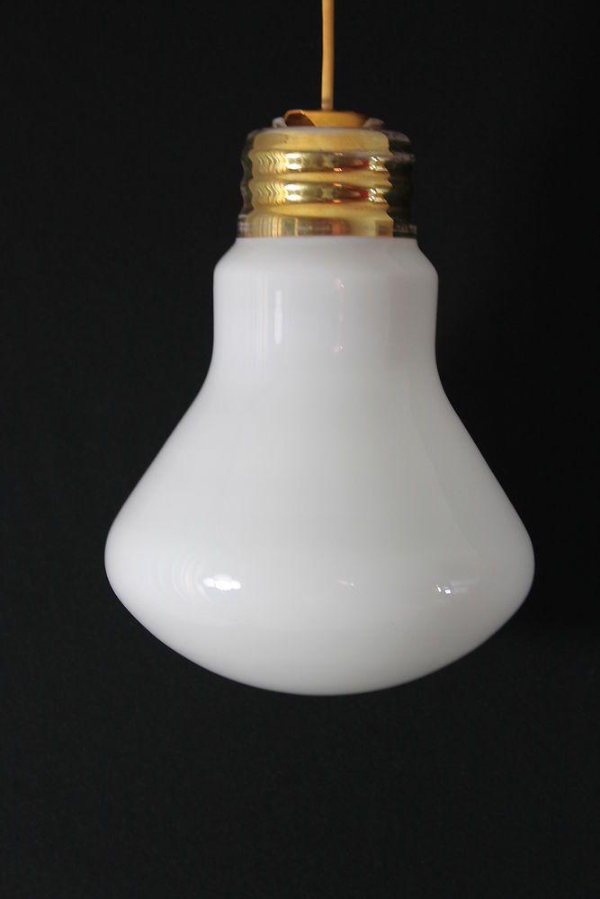 Original 70er Jahre Hängelampe - Glühbirnenform - bulb